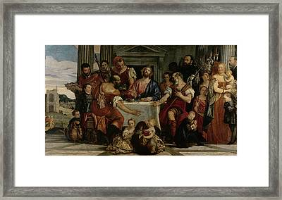 Supper At Emmaus Framed Print by Veronese