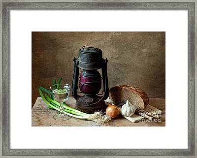 Supper Framed Print by Nailia Schwarz