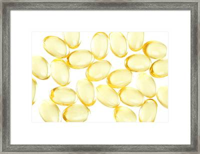 Supplements Framed Print by