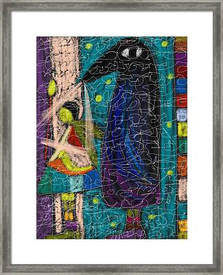 Framed Print featuring the mixed media Support by Clarity Artists