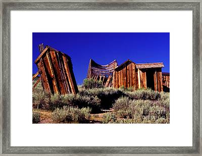 Support Your Neighborhood Outhouse Framed Print