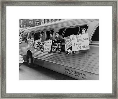 Supporting The Freedom Riders. Members Framed Print by Everett