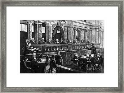 Supreme Court, 1888 Framed Print