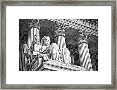 Supreme Court Building 16 Framed Print by Val Black Russian Tourchin