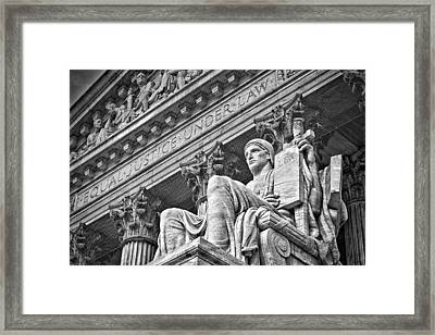 Supreme Court Building 21 Framed Print by Val Black Russian Tourchin