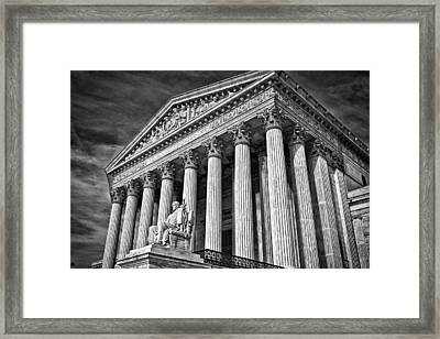 Supreme Court Building 5 Framed Print by Val Black Russian Tourchin