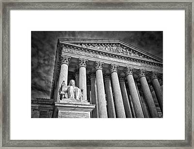 Supreme Court Building 6 Framed Print by Val Black Russian Tourchin