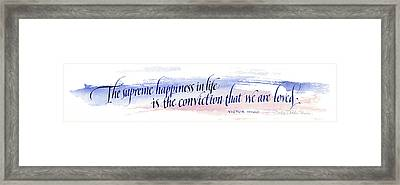 Supreme Happiness I Framed Print by Judy Dodds