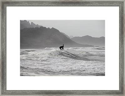 Surf 2 Framed Print by Dan Madden