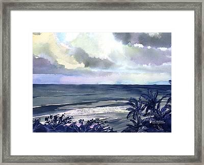 Surf Breaking Framed Print by Jon Shepodd