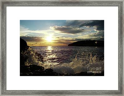 Surf Framed Print by Bruno Santoro