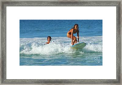 Surf Buddies Framed Print by Bob Christopher