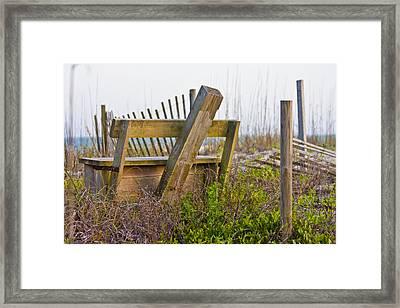Surf City Chair Framed Print by Betsy Knapp