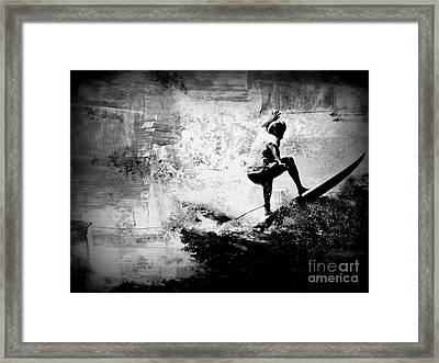 Surf In Action Framed Print by Kevin Moore