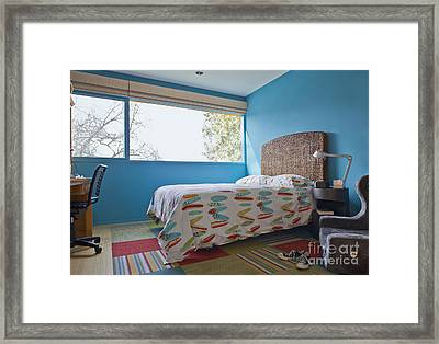 Surf Themed Bedroom Framed Print by Inti St. Clair