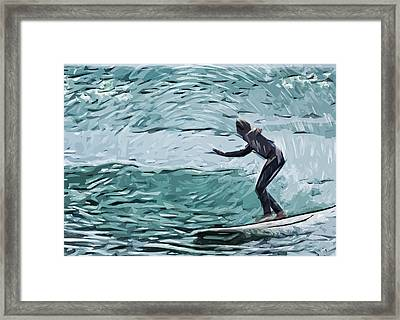 Surf Framed Print by Tilly Williams