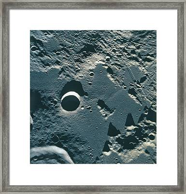 Surface Of The Moon Framed Print by Stockbyte