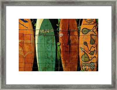 Surfboard Fence 1 Framed Print by Bob Christopher