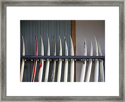 Surfboards Framed Print by Ivan SABO