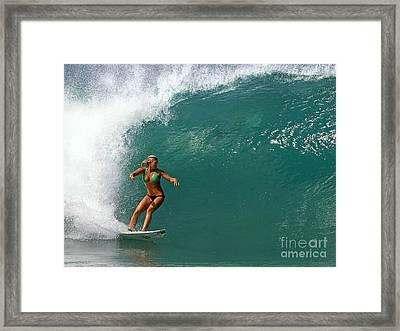 Surfer Girl Framed Print by Paul Topp