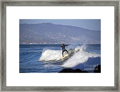 Surfer Framed Print by Molly Heng