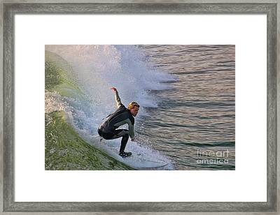 Surfin' The Wave Framed Print