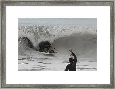 Surfing 209 Framed Print by Joyce StJames