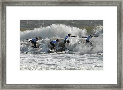 Surfing 219 Framed Print by Joyce StJames