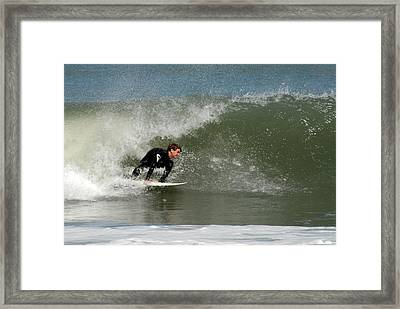 Surfing 398 Framed Print by Joyce StJames