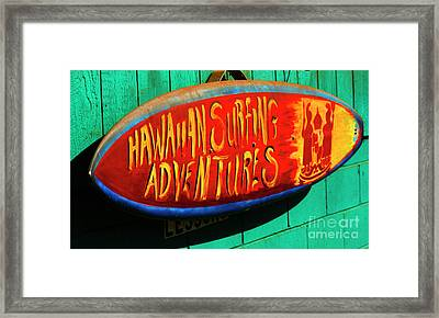 Surfing Adventures Framed Print by Bob Christopher