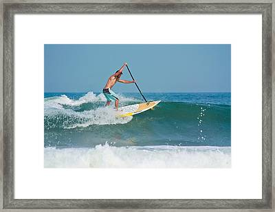 Surfing And Paddling Framed Print by Ann Murphy