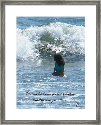 Surfing Eyes Framed Print by Laurence Oliver