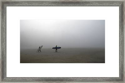 Surfing Into The Abyss Framed Print