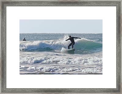 Surfing The Atlantic Framed Print by Brian Roscorla