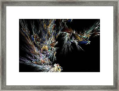 Framed Print featuring the digital art Surfing Waves by Ester  Rogers