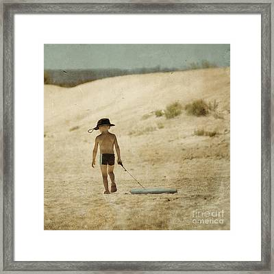 Surfs Out For Summer Framed Print by Paul Grand