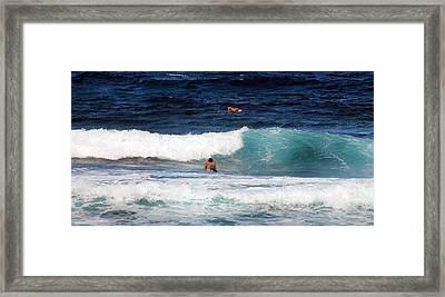 Surfs Up Framed Print by Elizabeth  Doran