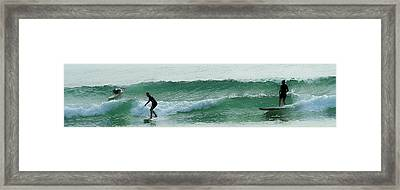 Surf's Up Framed Print by Jocelyn Kahawai