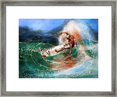 Surfscape 03 Framed Print by Miki De Goodaboom