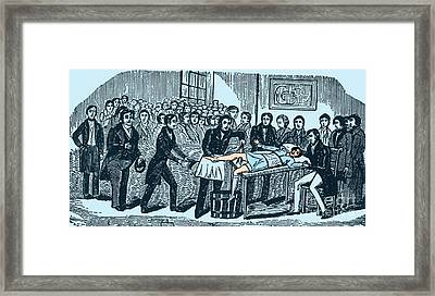 Surgery Without Anesthesia, Pre-1840s Framed Print by Science Source