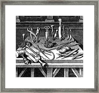 Surgical Equipment, 16th Century Framed Print by Science Source
