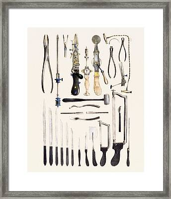 Surgical Instruments For Use On Bone Framed Print by Mehau Kulyk