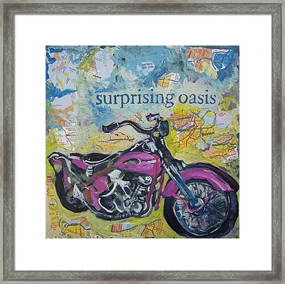Surprising Oasis Framed Print by Tilly Strauss