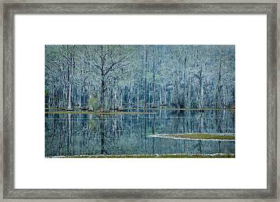 Surreal Blue Framed Print