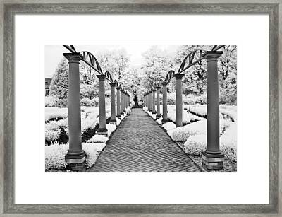 Surreal Cranbrook Estates - Michigan Garden Framed Print by Kathy Fornal