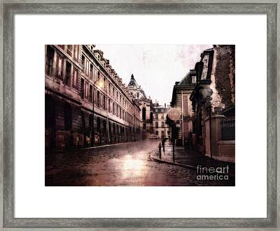Surreal Dreamy Streets Of Versailles France Framed Print by Kathy Fornal