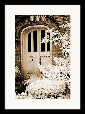 Spooky Door Framed Prints
