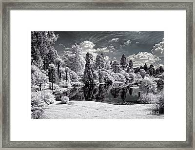 Surreal Lake - Infrared Photography Framed Print