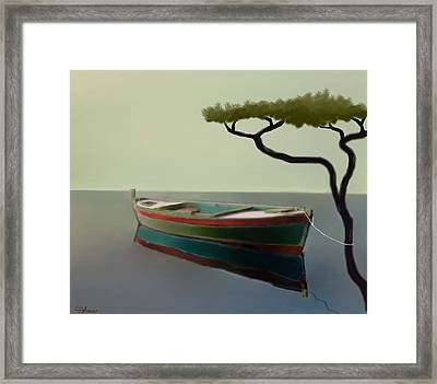 Surreal Sea Framed Print by Larry Cirigliano