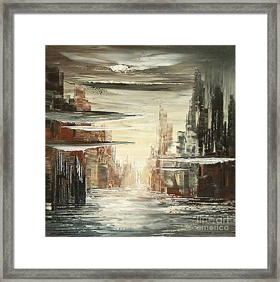 Surreal Sidelines Framed Print by Tatiana Iliina